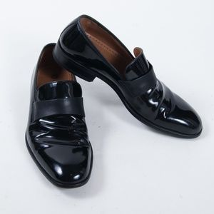 Magnanni Patent Leather Formal Tuxedo Loafers